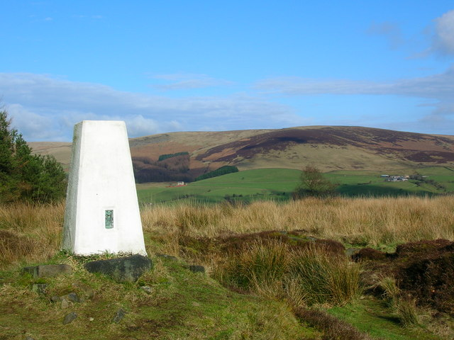 Black Hill Trig Point on a fine day