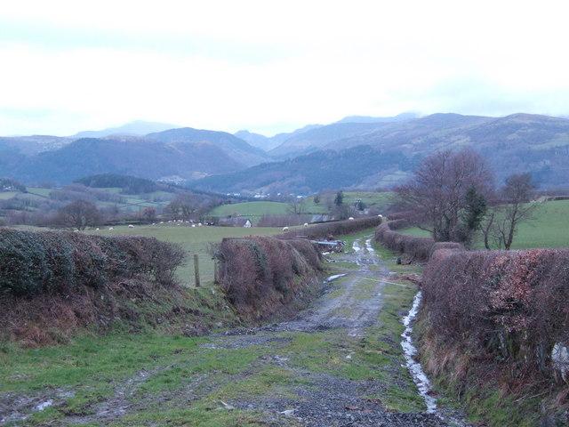 Farm track; wonderful view