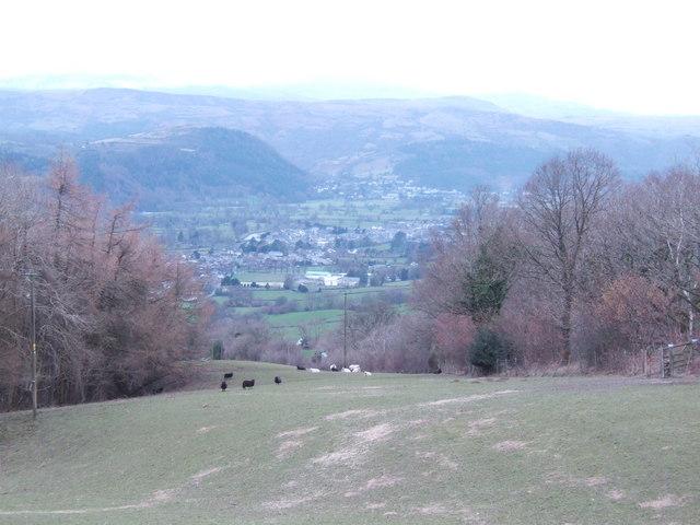 View downhill to Llanrwst