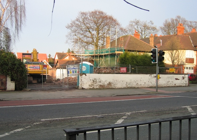 Tudor Court, Hough Green - Gone.
