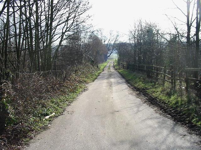 Track running parallel to A2, looking SE