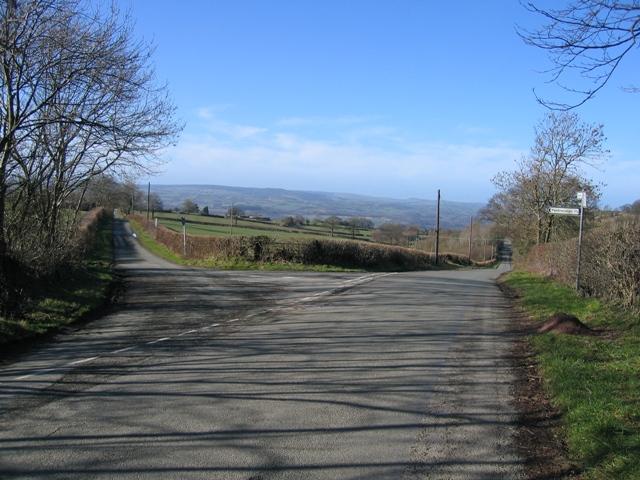 Road Junction West of Castell y Rhodwydd