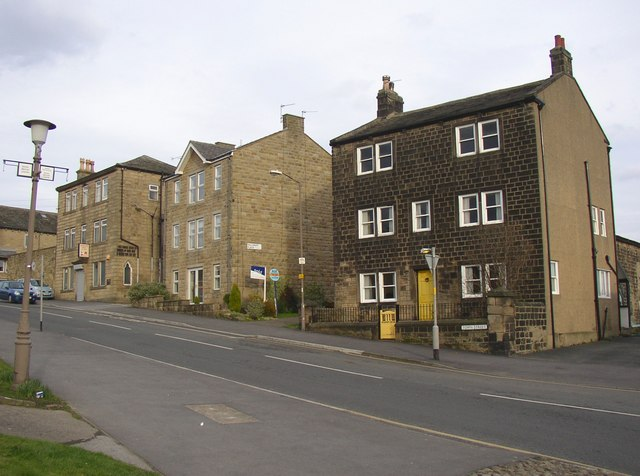 Lower end of Town Street, Guiseley