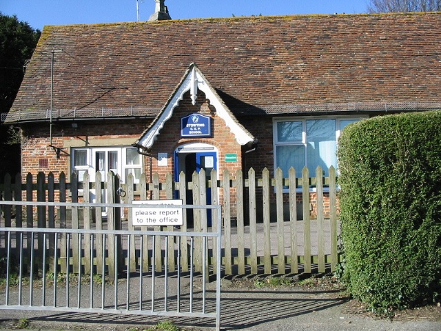 The old part of Stowting school