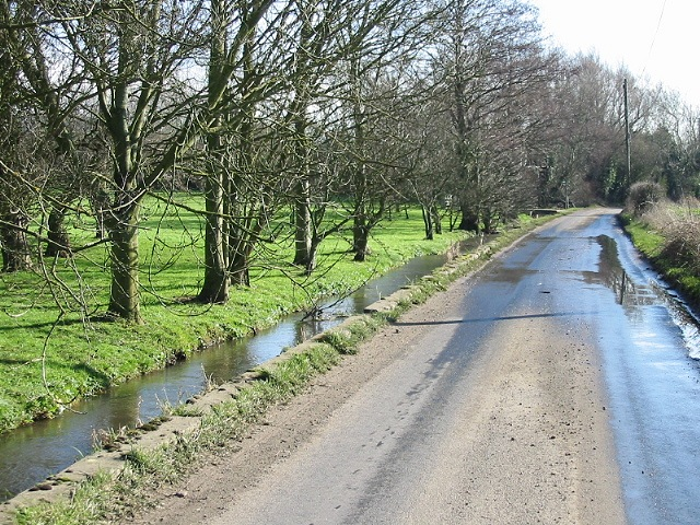 Small stream by the road, Broad Street