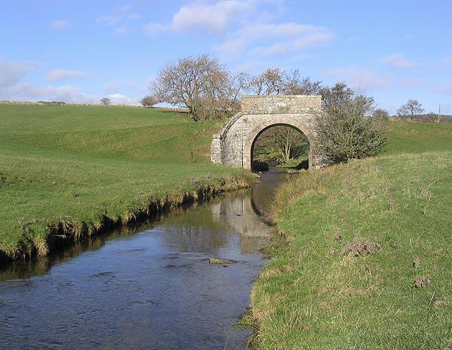 A bridge over Hassendean Burn