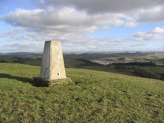 The trig point on Wiltonburn Hill