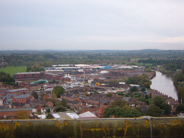 View from Worcester Cathedral Clock Tower