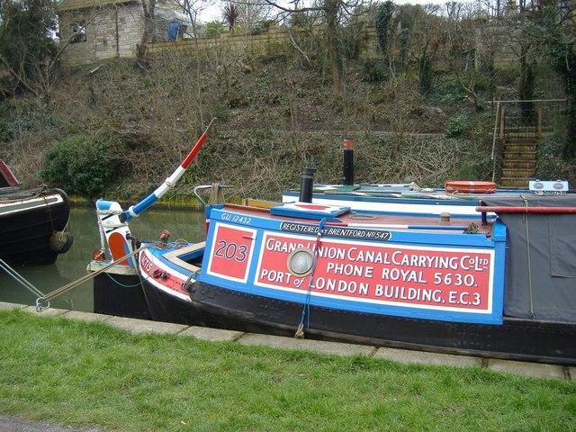 Traditional narrowboats