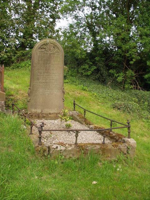 Tideswell Churchyard Gravestone