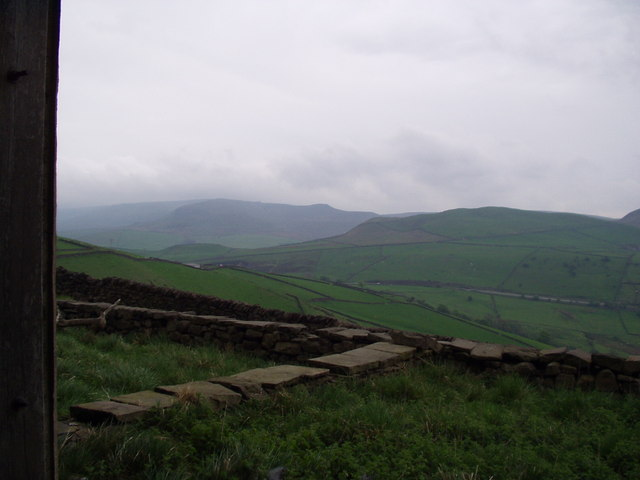 View North West from Whiterakes across Peep o Day
