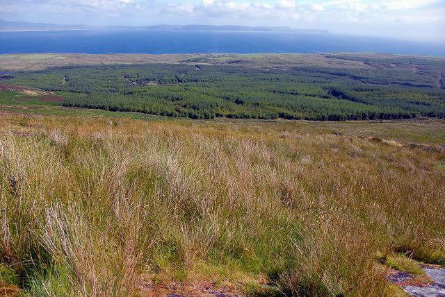 View from Gleann Beinn Tart A' Mhill summit
