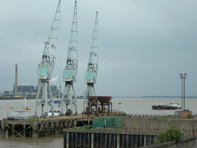 Jetty With Cranes, Gravesend