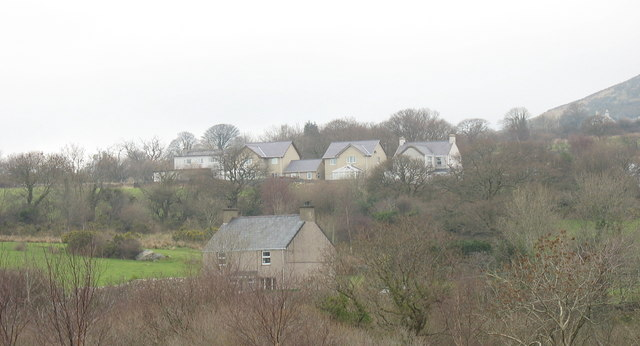 New houses on the site of the former Capel Ysgoldy