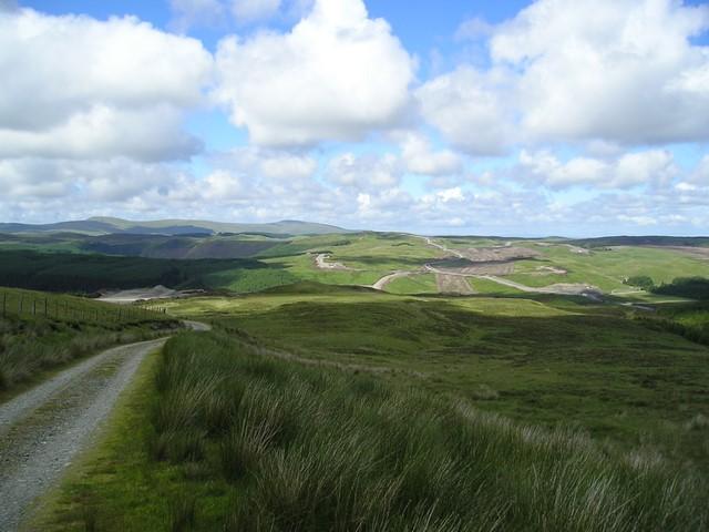 Moorland from the side of Pen y Garn