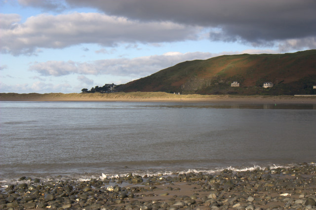 View across the mouth of the River Dovey from Ynyslas