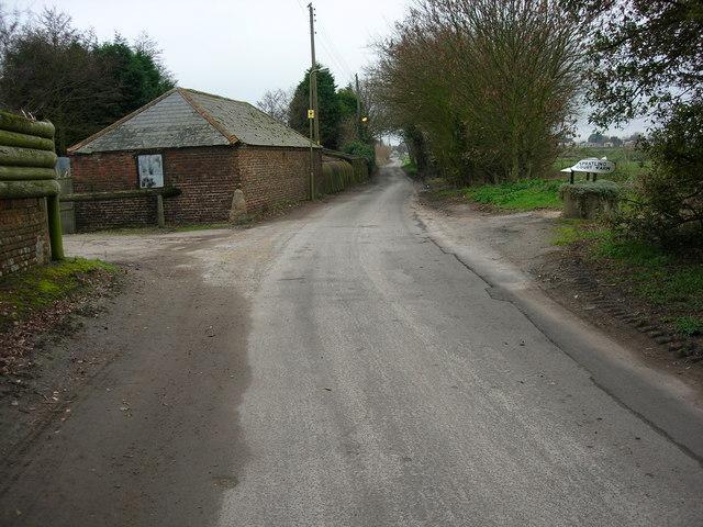 Entrance To Spratling Court Farm