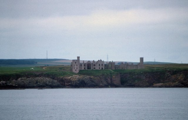 Slains Castle from the sea
