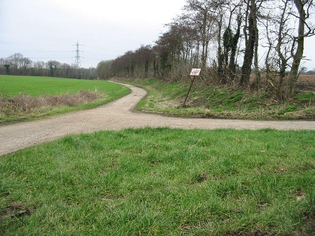 Farm tracks near Hode Farm