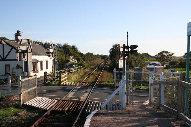 Level crossing at Llanbedr station