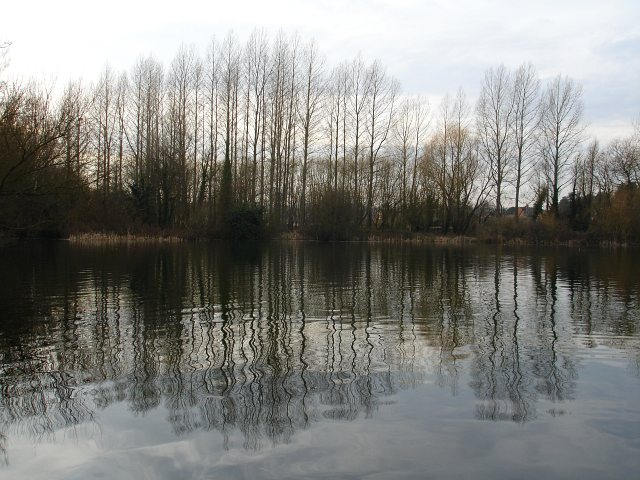Eastern end of Chilham Lake