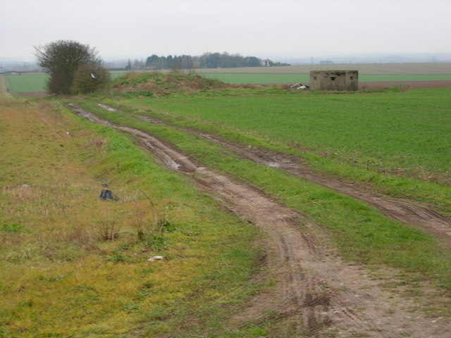 Pill Box In Farmland