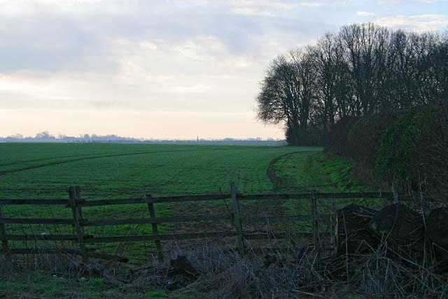 Farmland off the A52