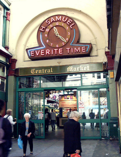 Cardiff, Entrance to Central Market