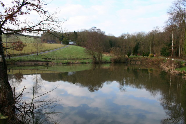 Man made fishing pond roger whittleston geograph for Ponds to fish in near me