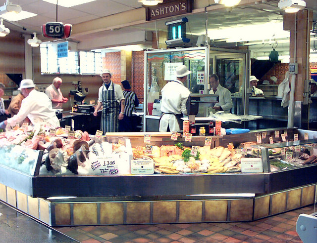 Cardiff, Central Market, Ashton's Fish Stall