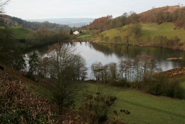 Llyn Du and Broniarth Hill
