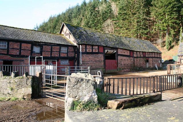 Old Farm buildings at Dyffryn