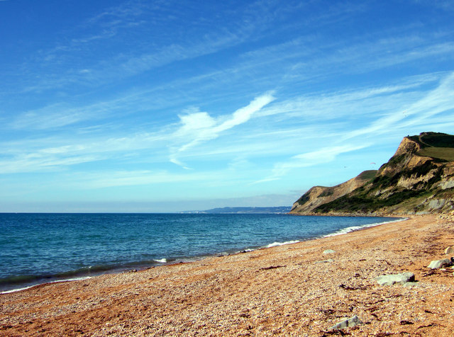 Thorncombe Beacon and Lyme Bay from West Beach