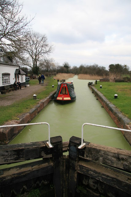First lock on the Droitwich Canal