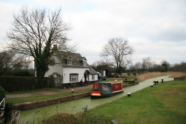 Ladywood, the first lock on the Droitwich Canal