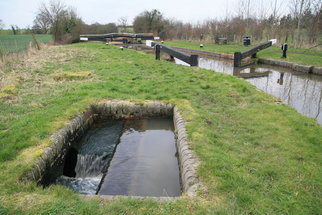 Lock 2 on Droitwich Canal.