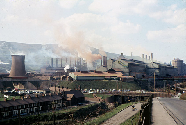 Ebbw Vale Steel Works in 1969