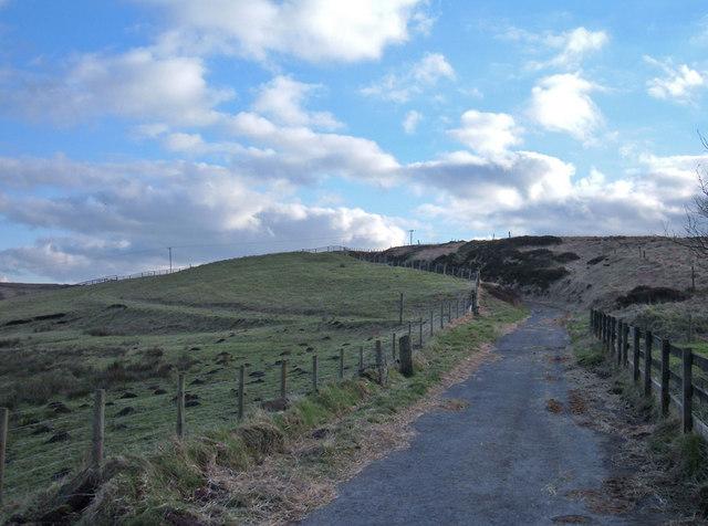 Track onto Crompton Moor