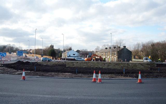Roundabout, A663, Elizabethan Way, Milnrow