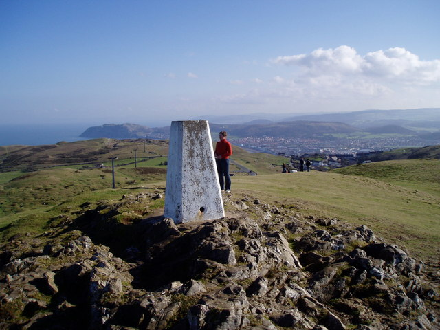 Trig Point on the summit of Great Orme.