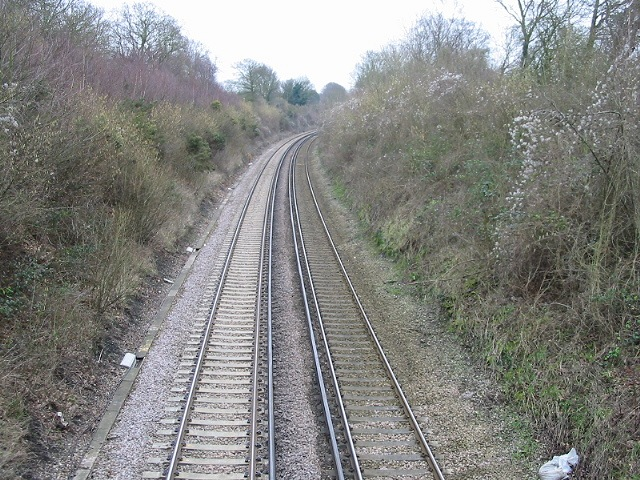 Looking SE (Dover direction) along the railway at Bekesbourne