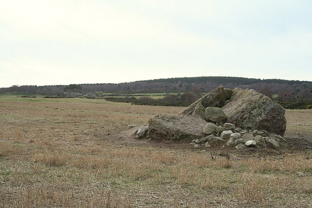 An erratic to the northeast of Greens of Bogside.