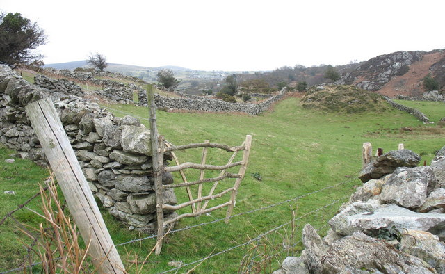 Stone walls and a rustic gate