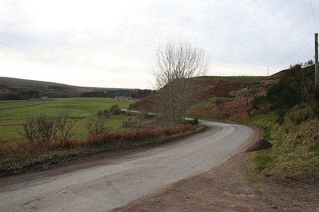 The serpentine B9010 east of Kellas.