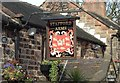 SJ9250 : Sign at Stafford Arms pub, Bagnall by Steven Birks