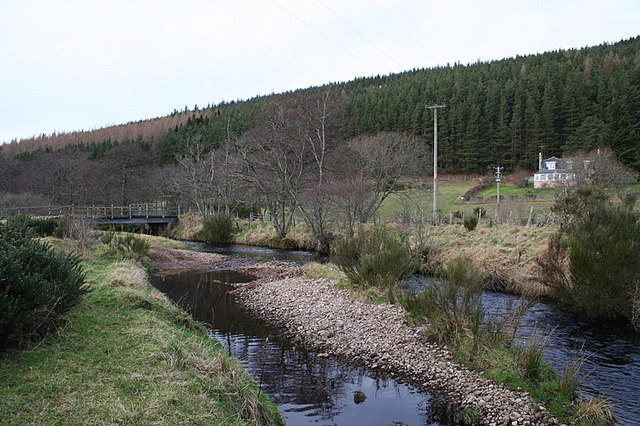 Bridge over the Lossie at Craigend.