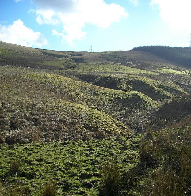 Gully on Fagyad Hill