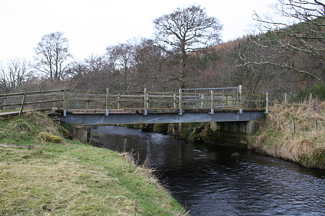 Craigend Bridge over the River Lossie.