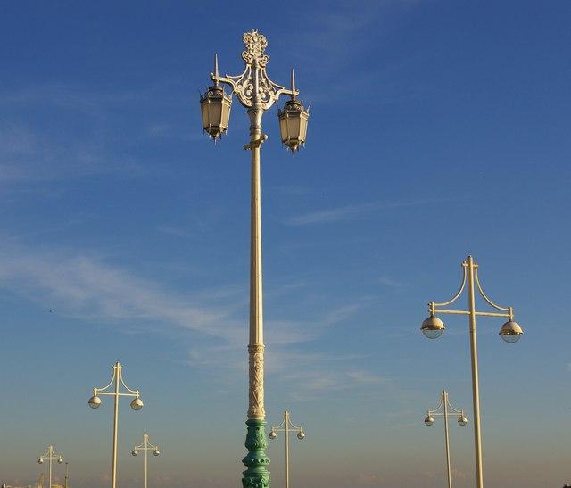 Lamp posts, Brighton Promenade