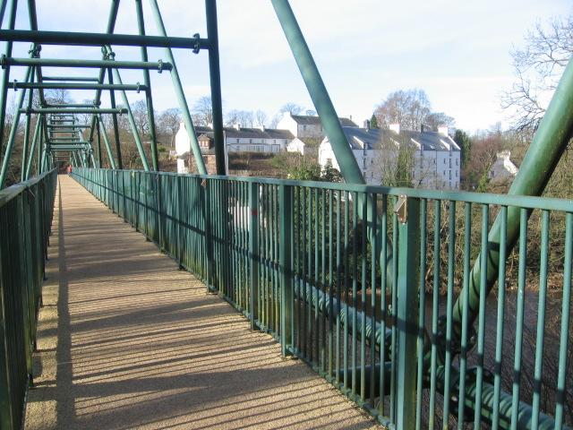 The Clyde Walkway crosses the David Livingstone Memorial Bridge